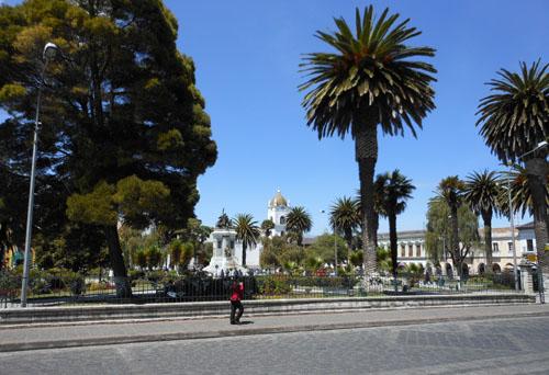 Latacunga - Parque Vincente Leon, in the centre of town