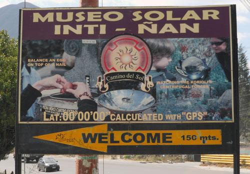 Mitad del Mundo - Inti-Nan Museum sign