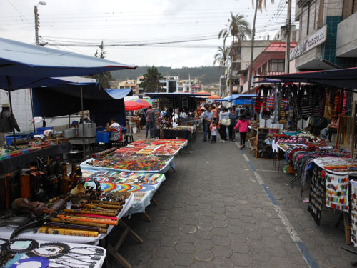 Otavalo - Saturday market on the streets