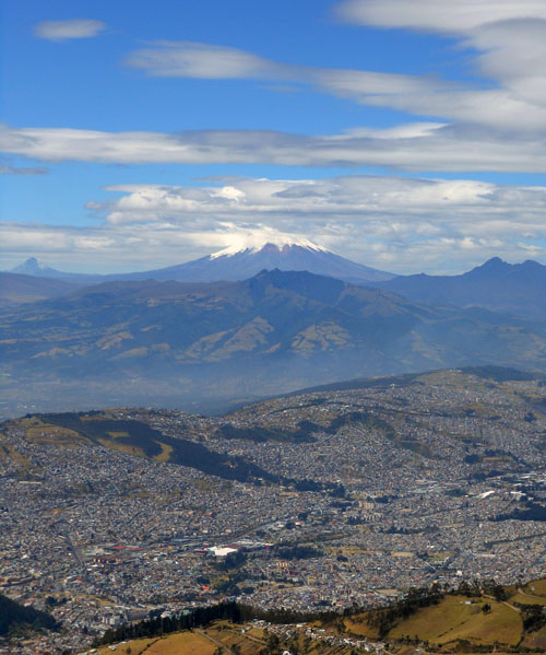 Quito - Teleferico: south with Cotopaxi in the distance