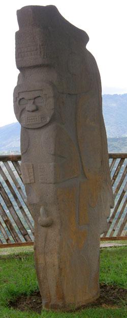San Agustin Archaeological Park: Alto de Lavapatas statue 1