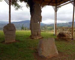 San Agustin Archaeological Park: Alto de Lavapatas statue 3