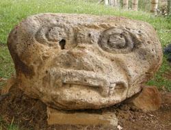 San Agustin Archaeological Park: Alto de Lavapatas statue 4