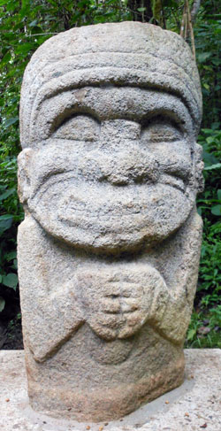 San Agustin Archaeological Park - Forest of the Statues, statue 10