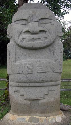 San Agustin Archaeological Park - Mesita A, statue 1