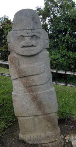 San Agustin Archaeological Park - Mesita A, statue 3