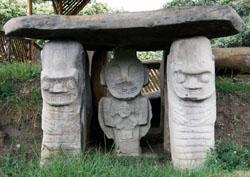 San Agustin Archaeological Park - Mesita B, statue 1