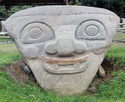 San Agustin Archaeological Park - Mesita B, statue 2