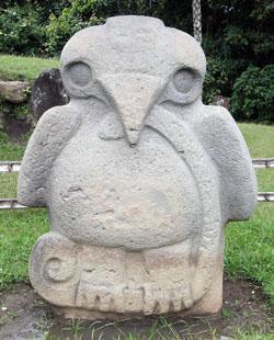 San Agustin Archaeological Park - Mesita B, statue 3