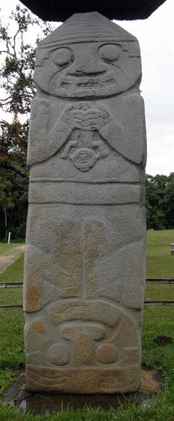 San Agustin Archaeological Park - Mesita B, statue 5