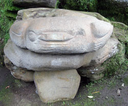 San Agustin Archaeological Park - statue on the way to Fuente Ceremonial