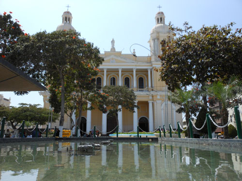 Chiclayo Santa Rosa de Lima church on the main plaza