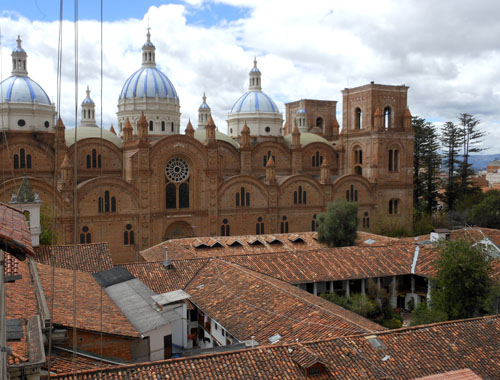 Cuenca - cathedral view from the hostel