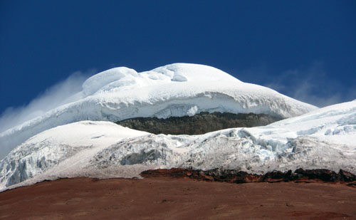Ecuador - Cotopaxi National Park: volcano's snow-capped peak