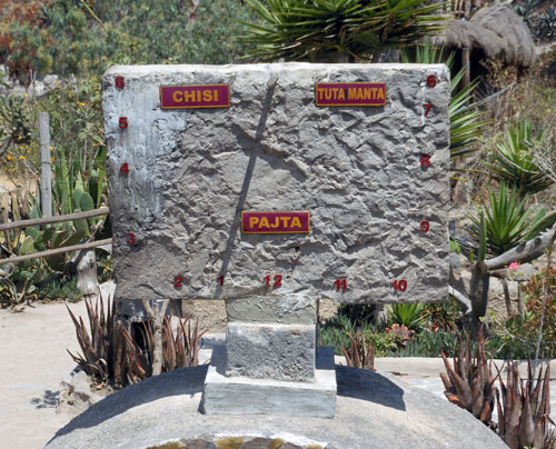 Ecuador - Mitad del Mundo Inti-Nan Museum: solar clock