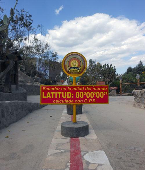 Ecuador - Mitad del Mundo Inti-Nan Museum: GPS-measured Equator line