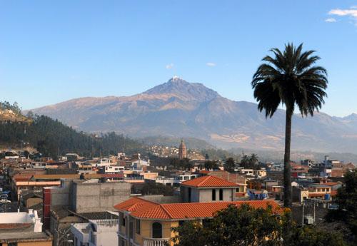 Ecuador - Otavalo: view from Hostal Chasqui's balcony