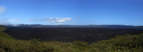 Isabela, Galapagos - Sierra Negra volcano crater, second largest in the world at 10km diameter