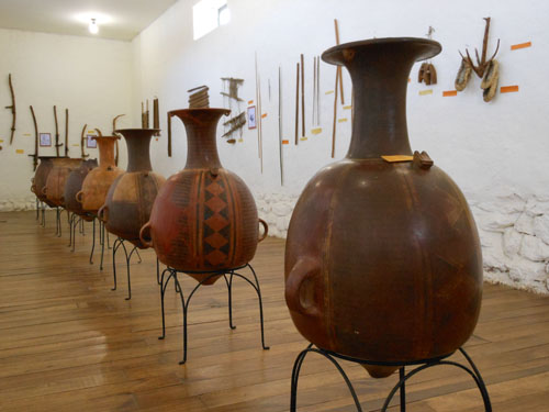 Chinchero museum - huge ceramic water jugs