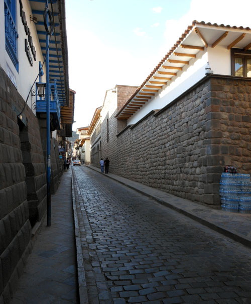 Cuzco - one of the cobbled-streets