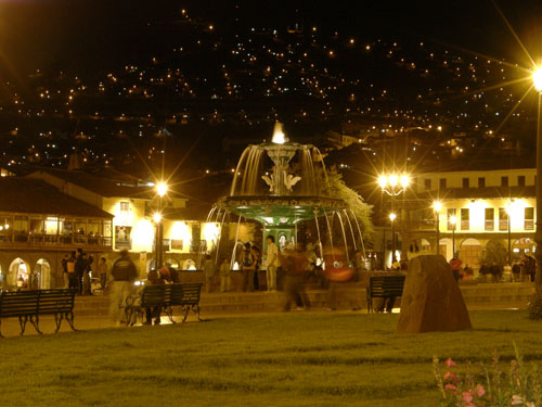 Cuzco - Plaza de Armas at night
