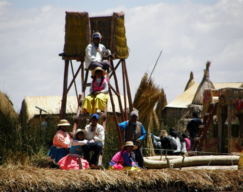 Lake Titicaca: a community in the floating Uros islands