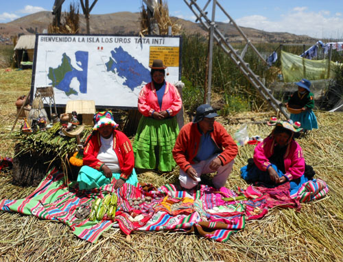 Lake Titicaca: floating Uros Island presentation