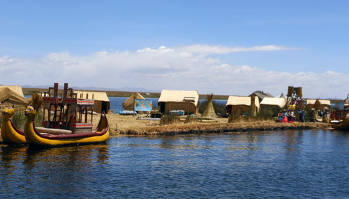 Lake Titicaca: the floating Uros Islands