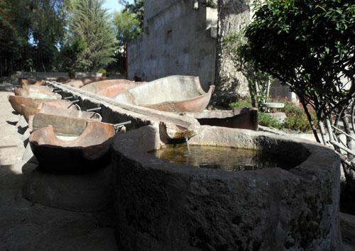 Peru, Arequipa - Monasterio de Santa Catalina laundry pots