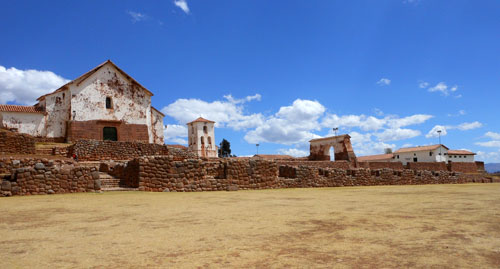 Peru, Chinchero Archaeological Site - overview