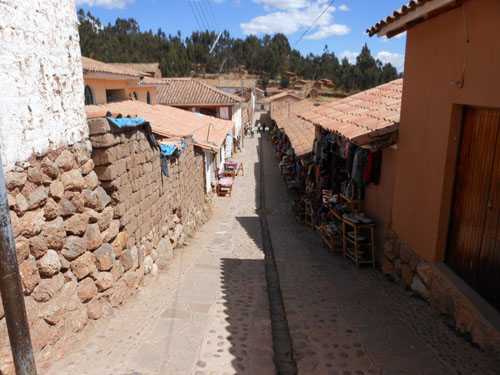 Peru, Chinchero Archaeological Site - streets