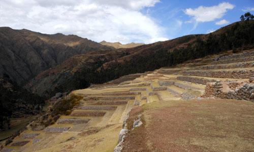 Peru, Chinchero Archaeological Site - terraces
