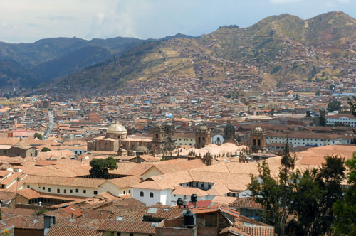 Peru, Cuzco - city panorama