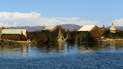 Peru, Lake Titicaca - Floating Uros Islands