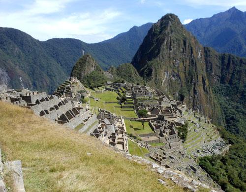 Peru, Machu Picchu Archaeological Site - view of Wayna Picchu mountain