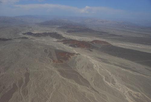 Peru, Nazca Lines flight - landscape views