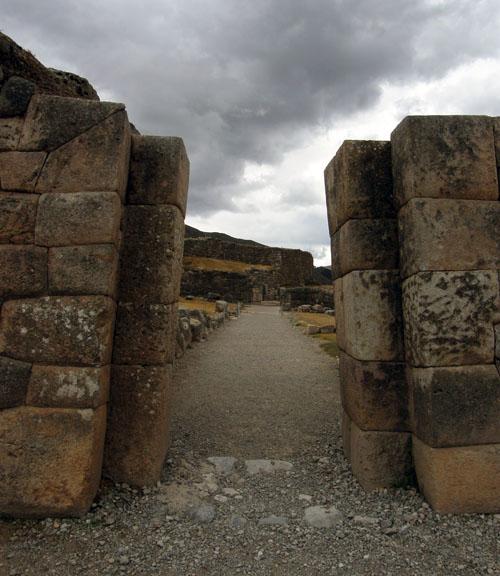 Peru, Puka Pukara Archaeological Site - main entrance
