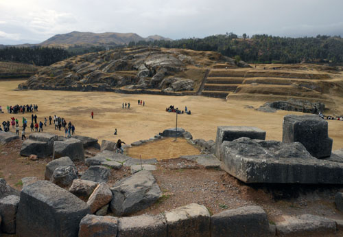 Peru, Sacsayhuaman Archaeological Site - the plaza