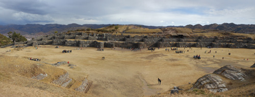 Peru, Sacsayhuaman Archaeological Site - the walls and panorama