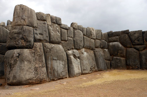 Peru, Sacsayhuaman Archaeological Site - the walls close up