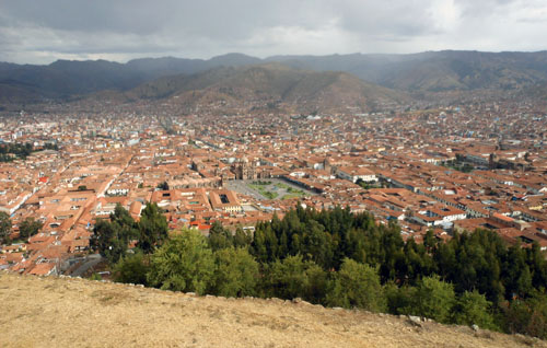 Peru, Sacsayhuaman Archaeological Site - views of Cuzco