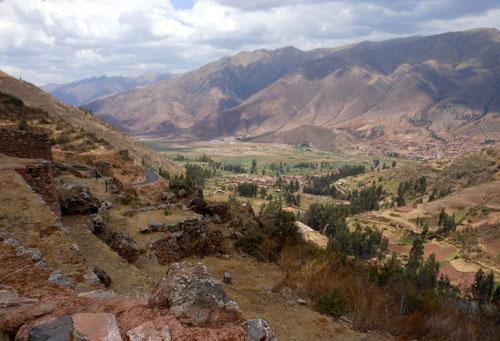 Peru, Tipon Archaeological Site - landscape views