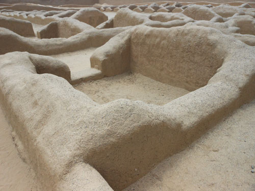 Peru, Trujillo - Chan Chan Archaeological Site living quarters