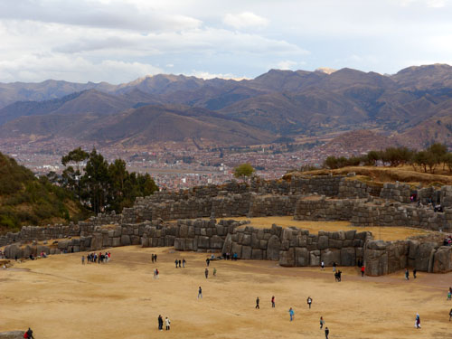 Sacsayhuaman - Inca ruins - landscape view with the walls