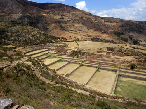 Tipon - Inca ruins - terraces and overview