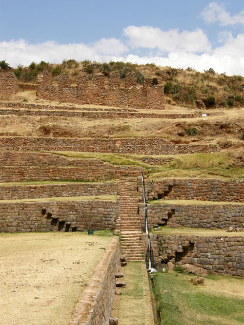 Tipon - Inca ruins - stairs between terraces