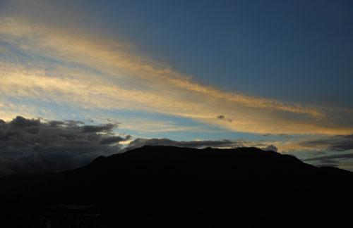 Bolivia, Coroico - sunset