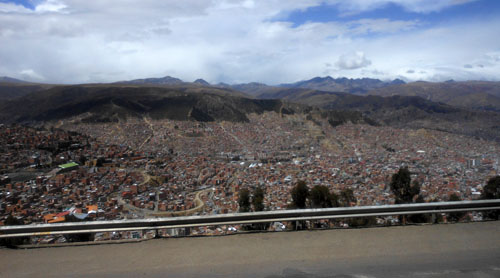 Bolivia, La Paz - panoramic views on the way to El Alto airport