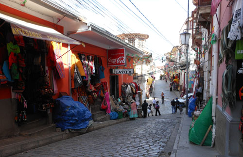 Bolivia, La Paz - witch craft market at Calle Linares