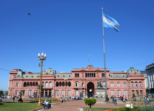 Buenos Aires - Casa Rosada on Plaza de Mayo